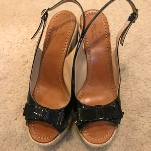 Kate Spade Wedge Bow Sandals size 9